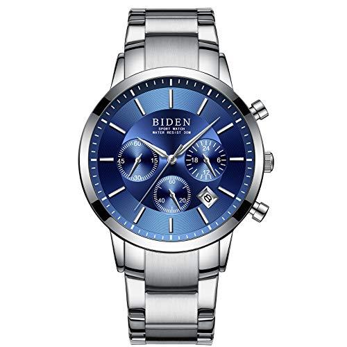Men's Stainless Steel Watch Calendar Waterproof