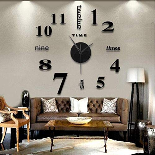 Modern 3D Mirror Wall Clock Decor