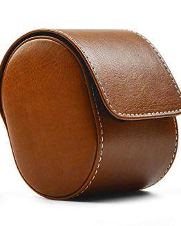 Leather Watch Storage Box Travel Single Watch Case