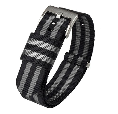 Jetson NATO Style Watch Strap 24mm Black