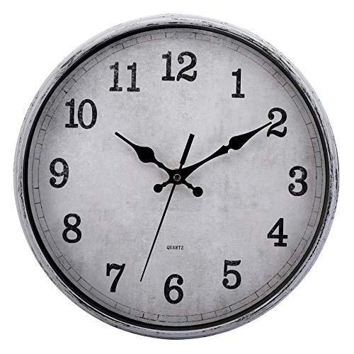 Non Ticking Retro Vintage Wall Clock