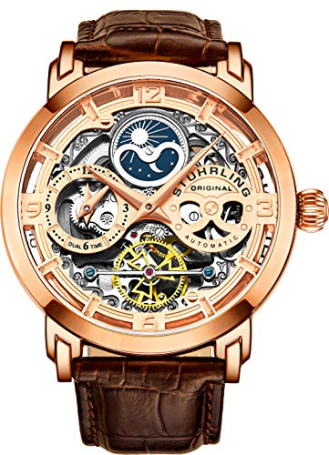 Stührling Original Mens Rose Gold Plated Automatic Watch