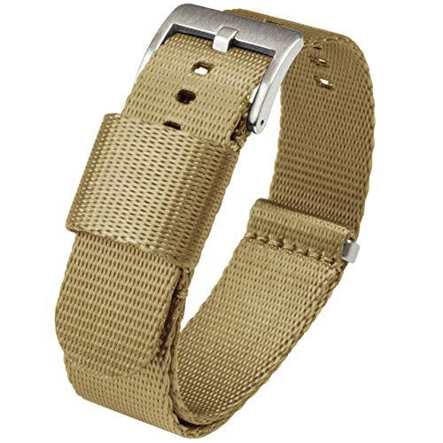 22mm Khaki Tan Jetson NATO Style Watch Strap