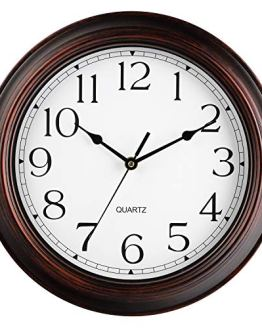 Wall Clock - Battery Operated 12 Inch Silent Non-Ticking Wall Clocks