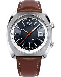 Alpina Men's Stainless Steel Swiss Automatic Sport Watch with Leather Strap