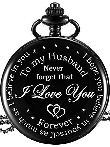Pocket Watch Engraved I Love You