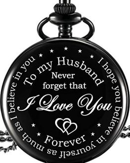 Pocket Watch Engraved I Love You