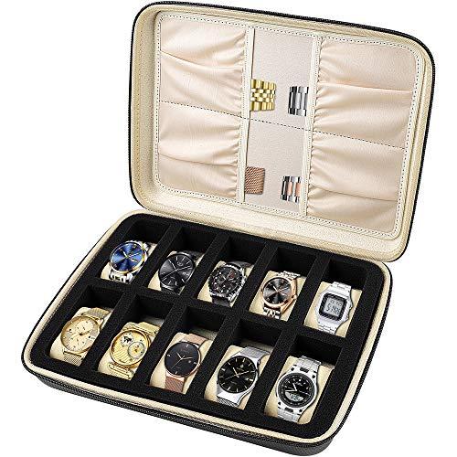 Brown Watch Jewelry Box Storage with Pillow
