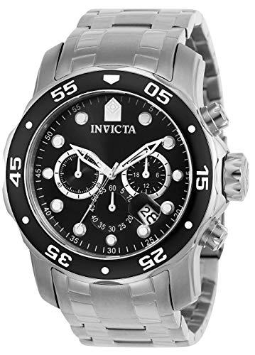 Invicta Pro Diver Chronograph Quartz Watch, Silver