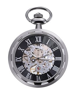 Carrie Hughes Men's Open face Silver Tone Steampunk Skeleton