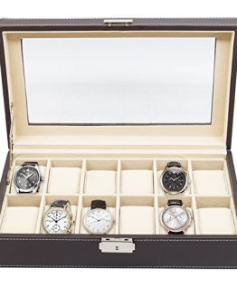 Men's Watch Box Display Case Collection Jewelry Box