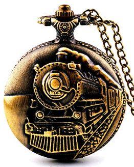 Picvadee Unisex Antique Case Vintage Brass Rib Chain