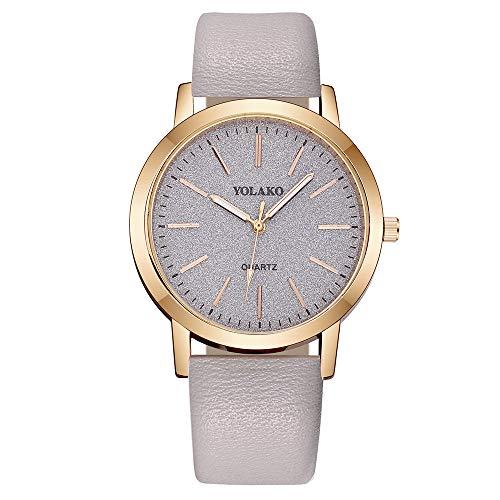 AMOUSTORE Womens Minimalist Casual Watch Leather Strap