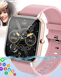 Waterproof Bluetooth Smartwatch Fitness Watch with Blood Pressure Oxygen Heart Rate Monitor