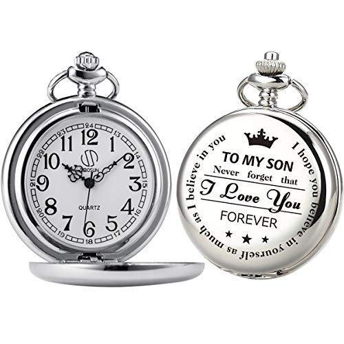 My Son I Love You Pocket Watch Chain Fob