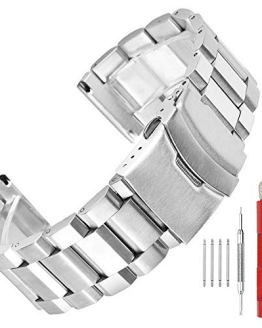Stainless Steel Watch Band with Deployment Lock Buckle