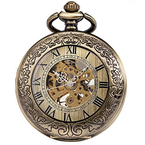 SIBOSUN Pocket Watch Mechanical Skeleton Antique Men