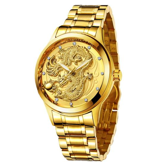 Udaney -Mens-Gold-Dragon-Watches-Golden Business