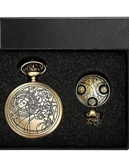 YISUYA Vintage Bronze Doctor Who Retro Dr. Who Quartz Pocket Watch