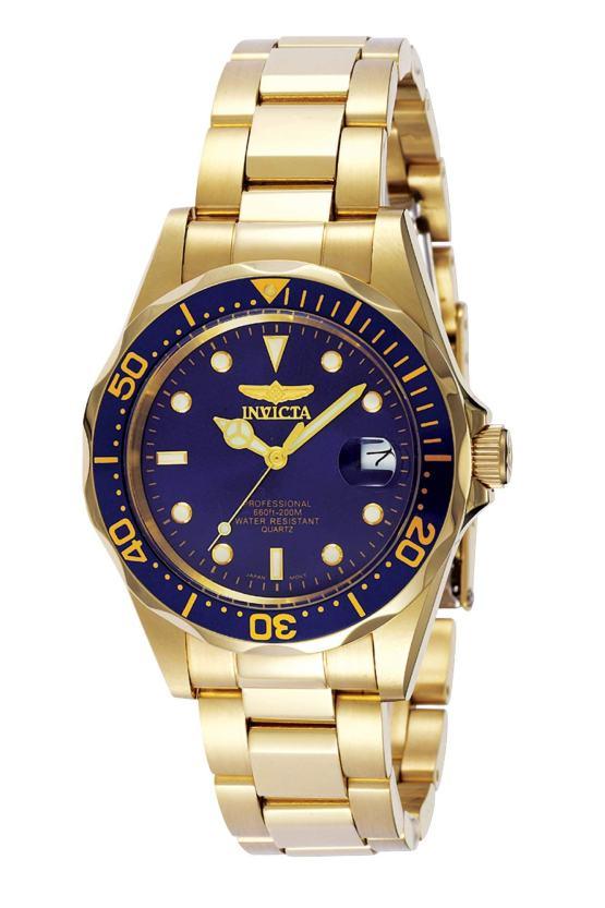 Invicta Pro Diver 37.5mm Gold Tone Watch