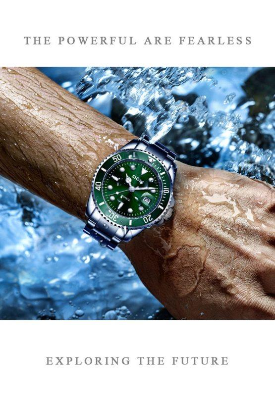 Watch 30m Waterproof Date Clock Luxury Men's