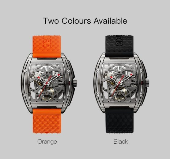 Watch Business Automatic Wristwatch with Silicone Leather