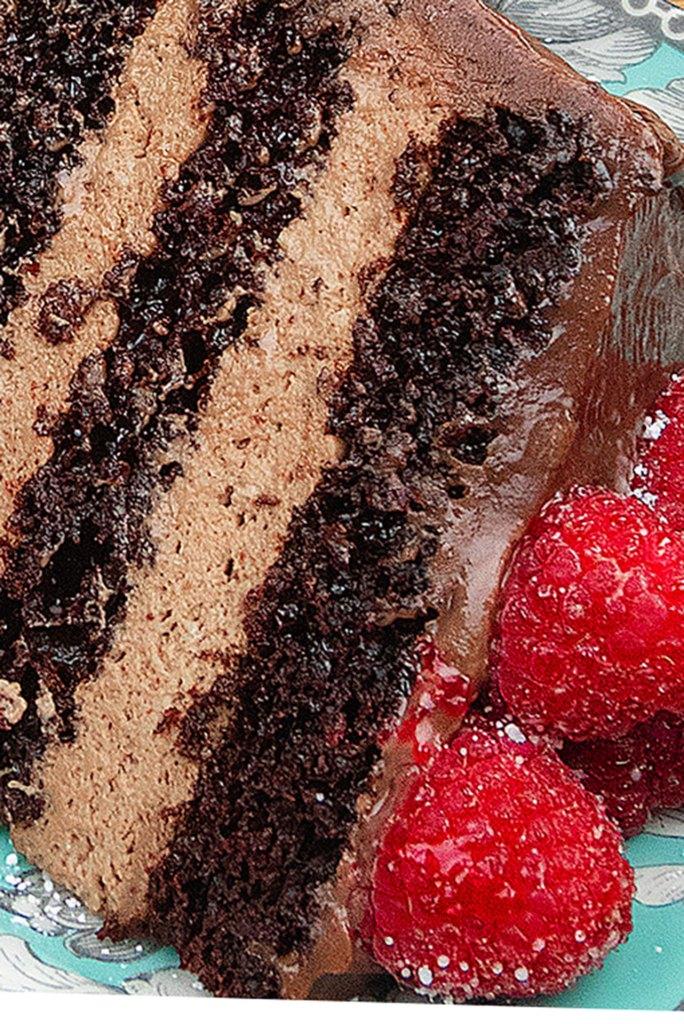 Macro Crumb - Chocolate Mousse Cake