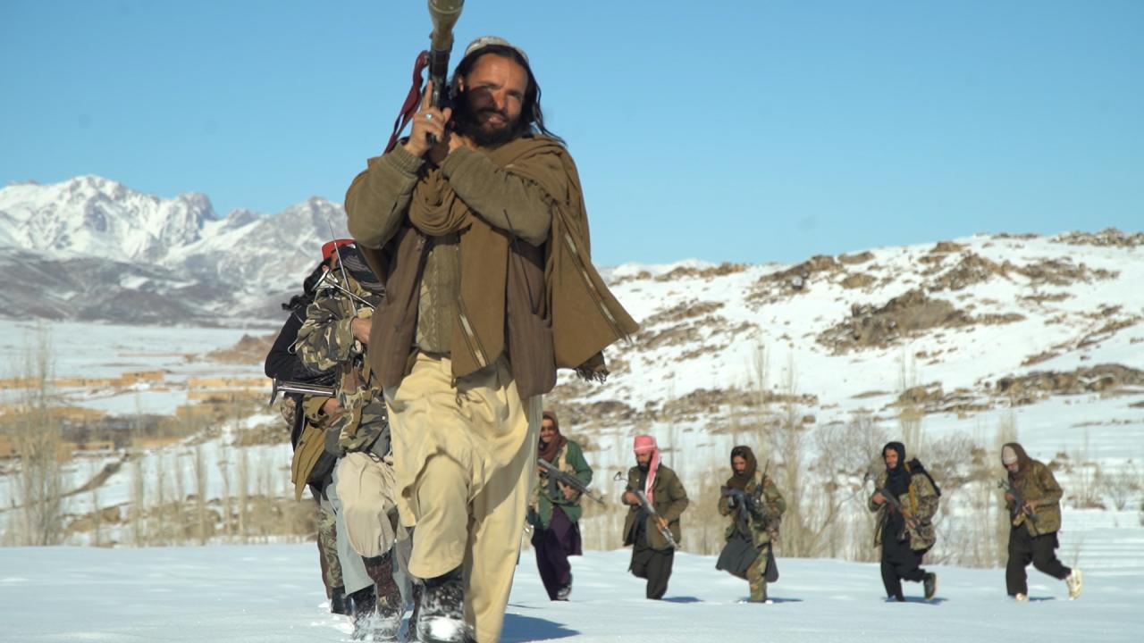 Taliban drills in snow
