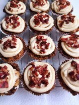French Toast with maple bacon cupcakes