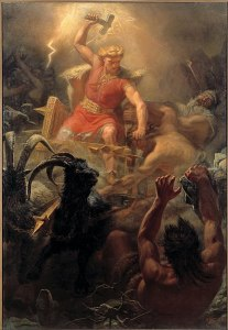 Thor's Fight with the Giants, by M.E. Winge 1872