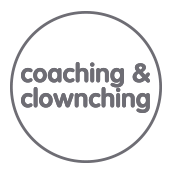 Coaching & Clownching - logo gris
