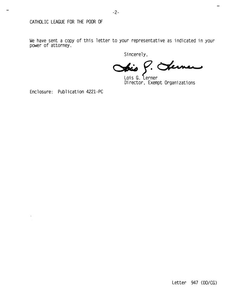 IRS Letter Page 2 of 2