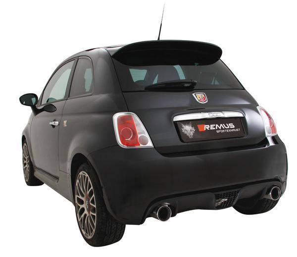remus axle back exhaust abarth 500 595