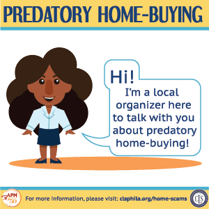 Link to visual guide to predatory home-buying in English. Accessible information available in FAQ above.