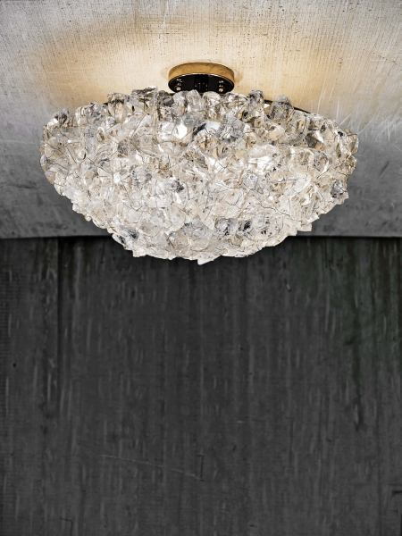 CL Sterling   Son   Rock Crystal Ceiling Fixture Rock Crystal Ceiling Fixture