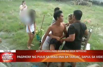 Pagpatay ng pulis sa mag-ina sa Tarlac, sapul sa video | CLTV36 News