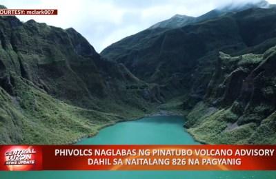 PHIVOLCS naglabas ng Pinatubo Volcano Advisory dahil sa naitalang 826 na pagyanig