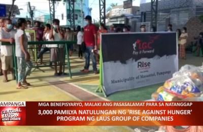3,000 pamilya natulungan ng 'Rise Against Hunger' Program ng Laus Group of Companies | CLTV36 News