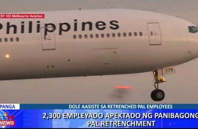 2,300 empleyado apektado ng panibagong Philippine Airlines retrenchment