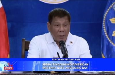 Subic Bay Metropolitan Authority (SBMA) itinangging American military base ang Subic Bay