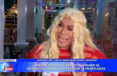 LGBTQIA+ Month Celebration idinaan sa feeding program para sa COVID-19 frontliners