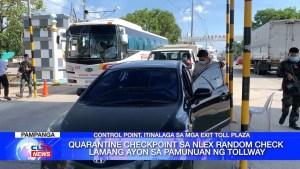 Quarantine checkpoint sa NLEX random check lamang ayon sa pamunuan ng tollway | CLTV36 News