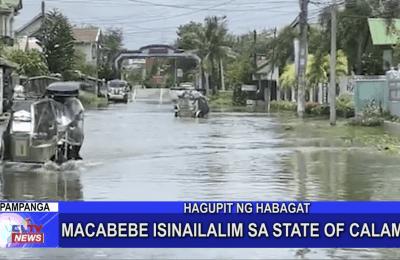 Macabebe isinailalim sa State of Calamity