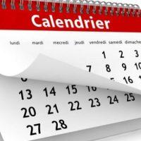 Le calendrier des compétitions