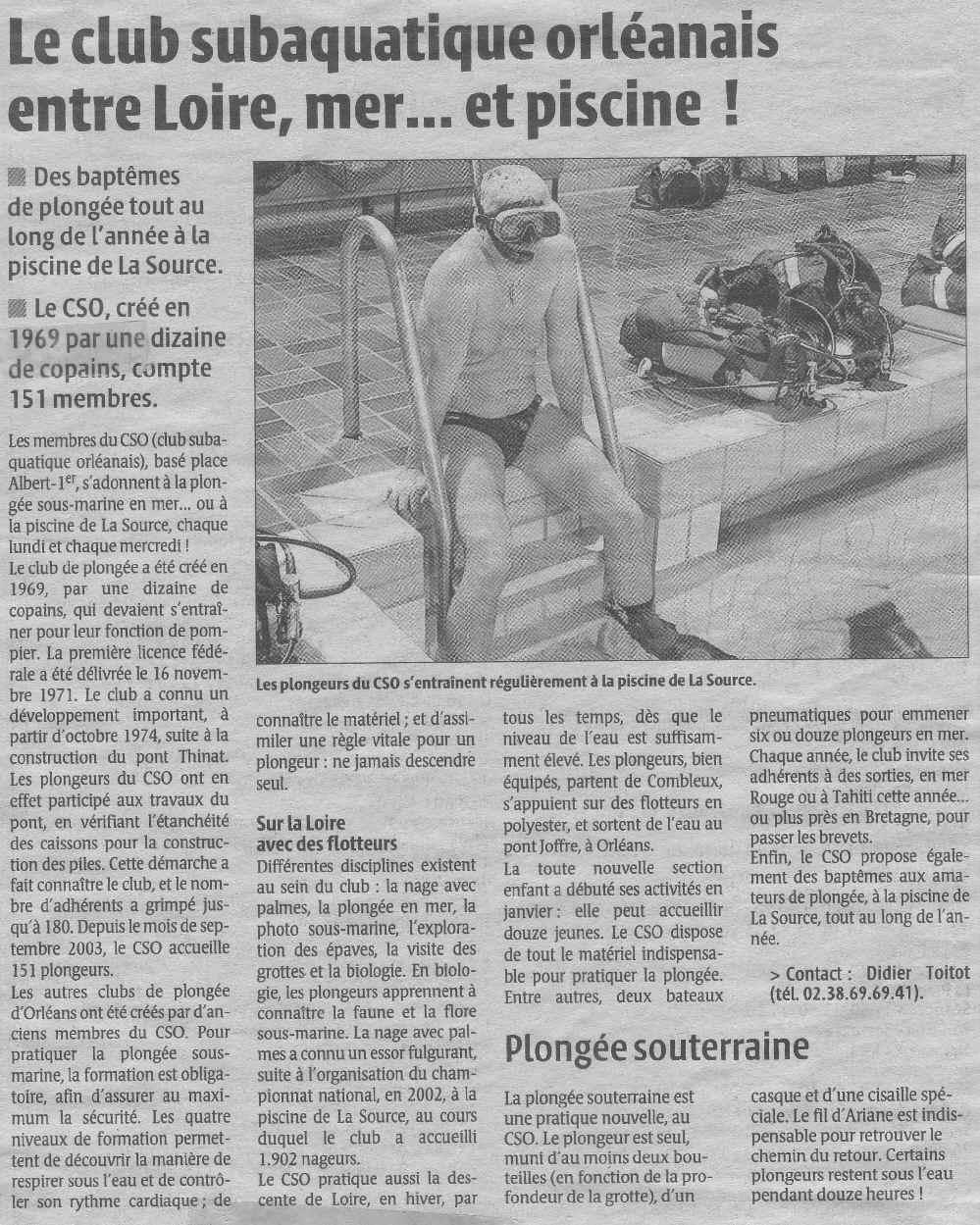 La République du Centre – 04/02/2004