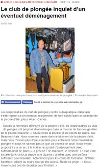 La République du Centre – 04/11/2014