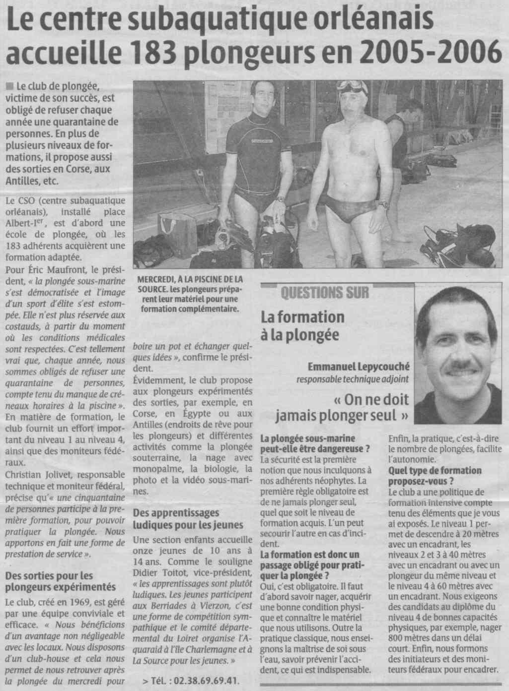 La République du Centre – 19/04/2006