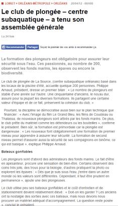 La République du Centre – 20/04/2012