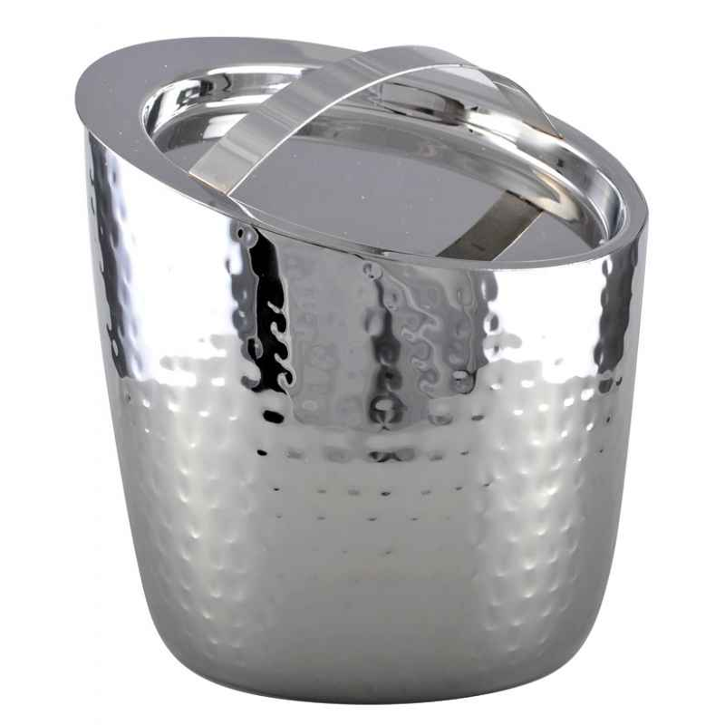 seau a glacons en aluminium martele double paroi avec couvercle