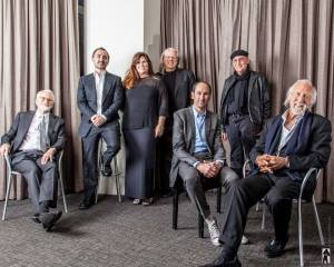 AD Club President-CEO Gina Grillo and advertising icons Dan Wieden, David Droga, Jeff Goodby, Rich Silverstein, Bob Greenberg and Lee Clow (from L-R).